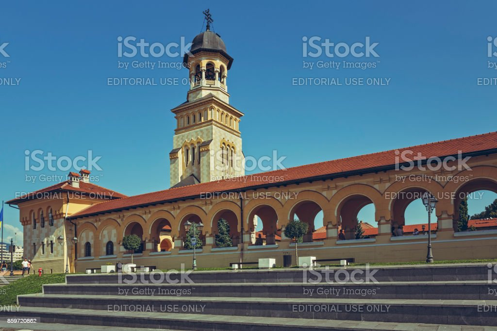 Coronation Orthodox Cathedral, Alba Iulia, Romania stock photo