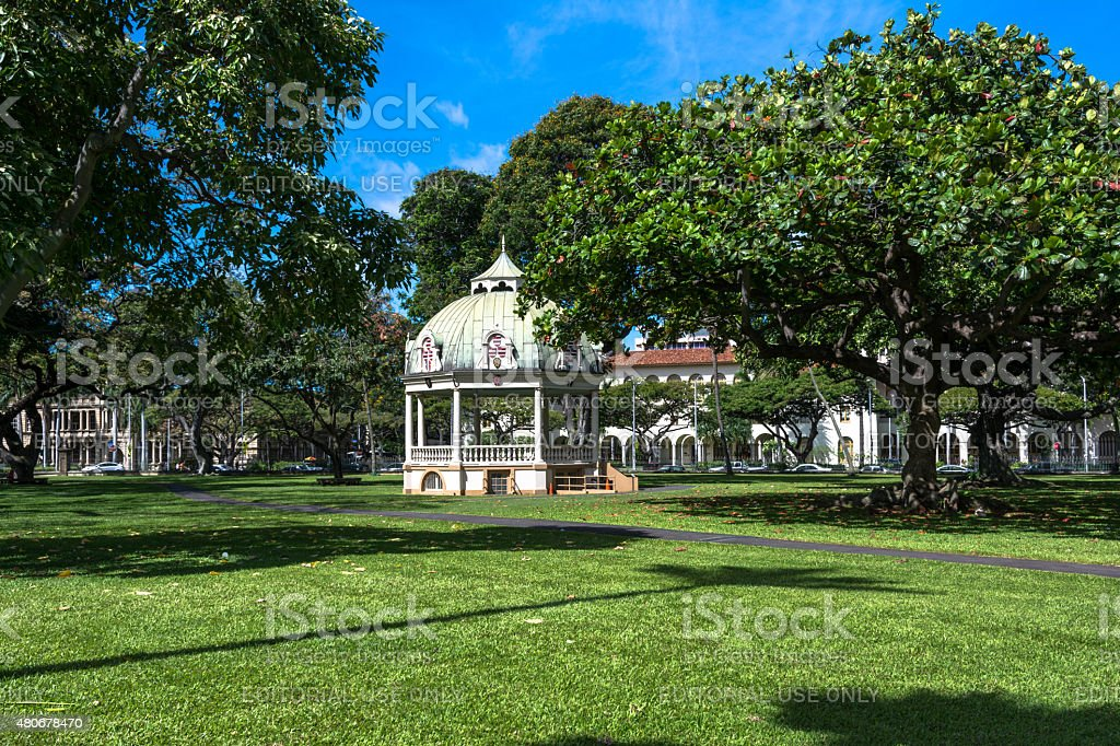 Coronation Pavilion, Honolulu, Hawaii stock photo