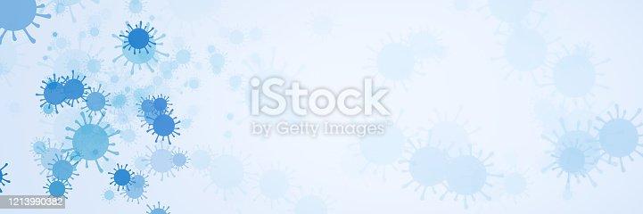 istock Coronavirus abstract background. 1213990382