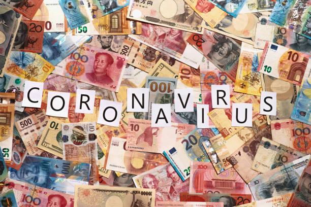 Coronavirus and economy stock photo
