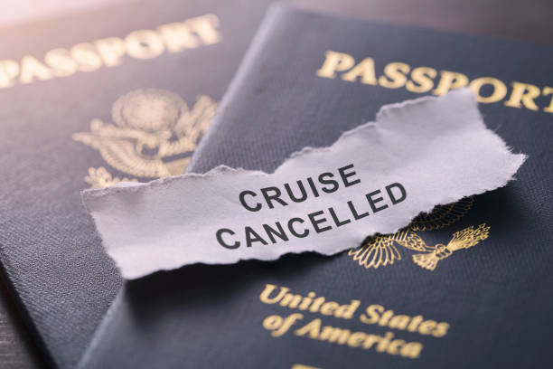 coronavirus covid-19 cruise cancelled for usa guest - mphillips007 stock pictures, royalty-free photos & images