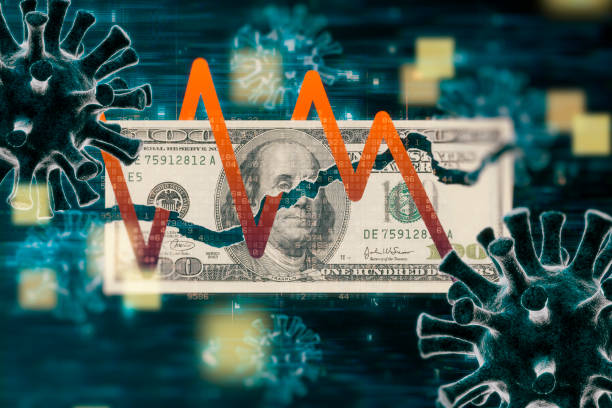 Coronavirus COVID-19 Financial Issues concepts stock photo