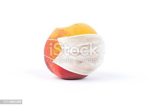 Coronavirus covid-19 fruits and vegetables mask world protection