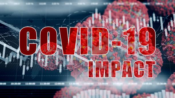 Coronavirus COVID-19 global business impact stock photo