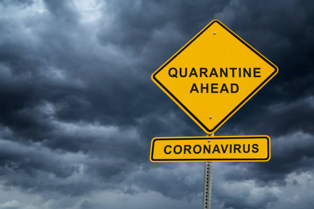 coronavirus covid-19 home quarantine and isolation - mphillips007 stock pictures, royalty-free photos & images