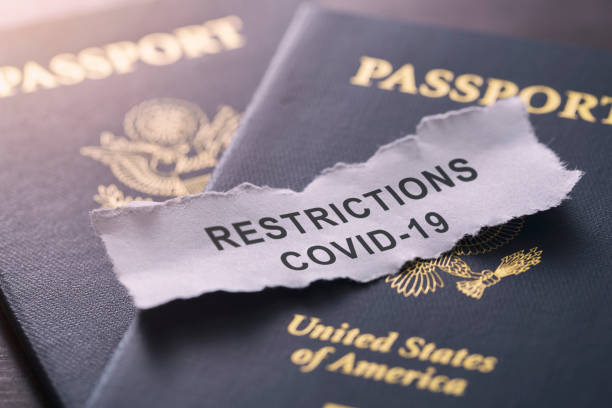 coronavirus covid-19 international travel restrictions and ban - mphillips007 stock pictures, royalty-free photos & images