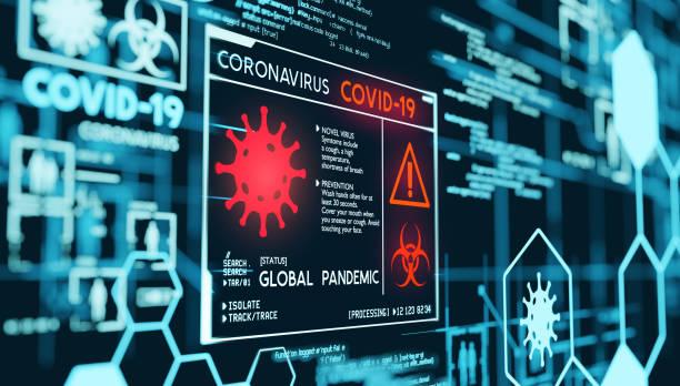 Coronavirus Covid-19 Pandemie-Daten Visualisierung – Foto