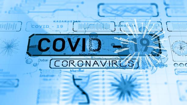 Coronavirus COVID-19 warning world global threat stock photo