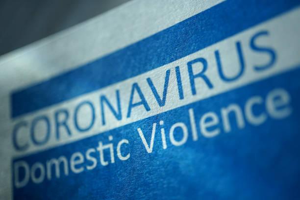 Cтоковое фото CoronaVirus domestic violence