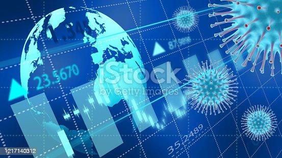 860389678 istock photo Coronavirus economic impact concept image. 1217140312