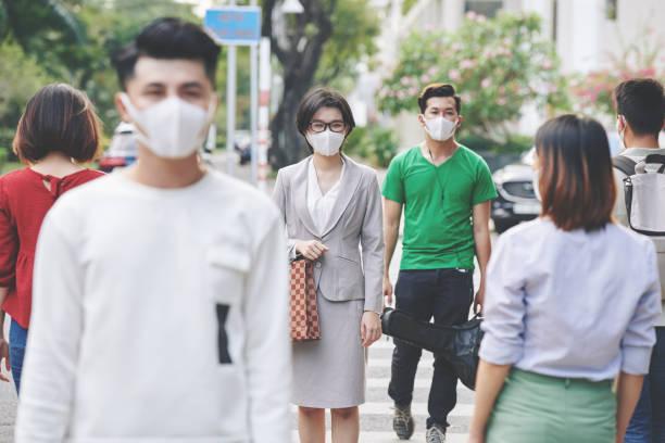 Coronavirus-Epidemie in asiatischer Stadt – Foto