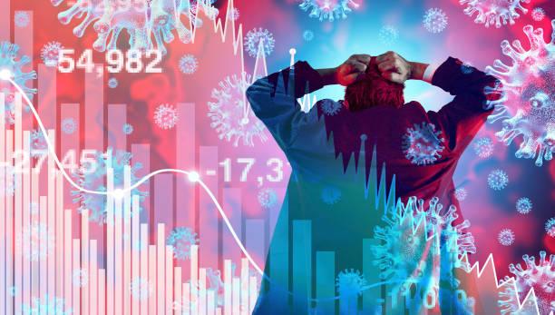 Coronavirus Financial Panic stock photo