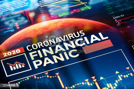 Coronavirus Financial Panic. Global stats & charts visualising financial crisis panic.