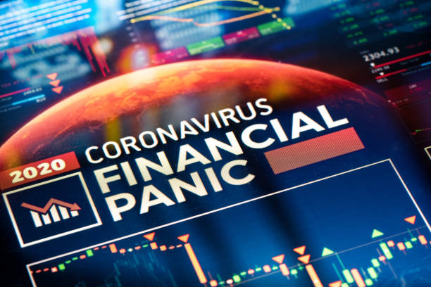 Coronavirus Financial Panic stock photo