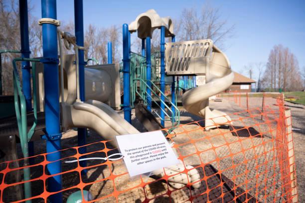 Coronavirus Forces Playground Closure stock photo