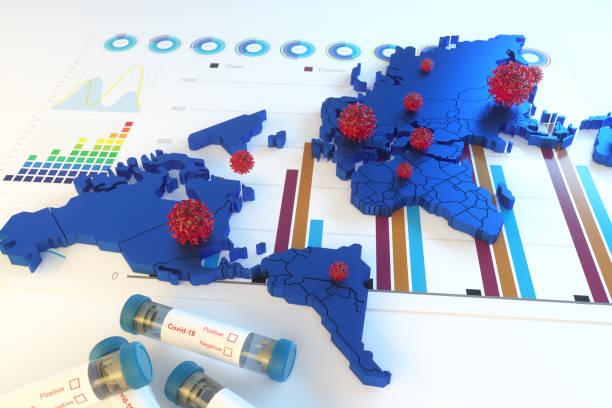 Coronavirus globale Verbreitungskonzepte – Foto