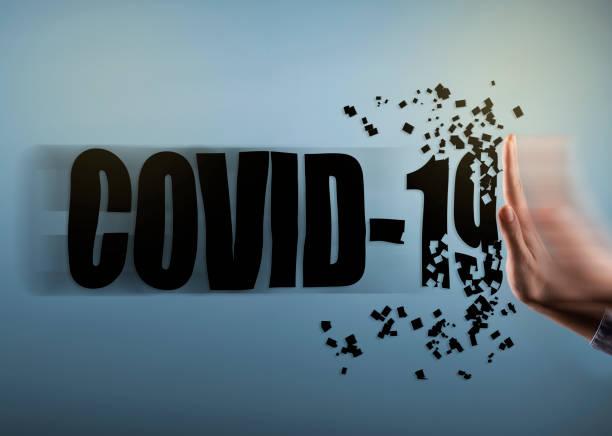 COVID - 19 / Coronavirus / Hand stop sign concept (Click for more) stock photo