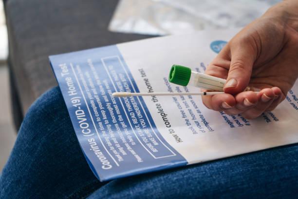 Coronavirus Home Test (COVID-19) stock photo