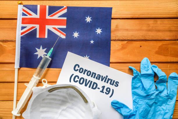Coronavirus in Australia. stock photo