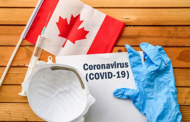 Coronavirus in Canada stock photo
