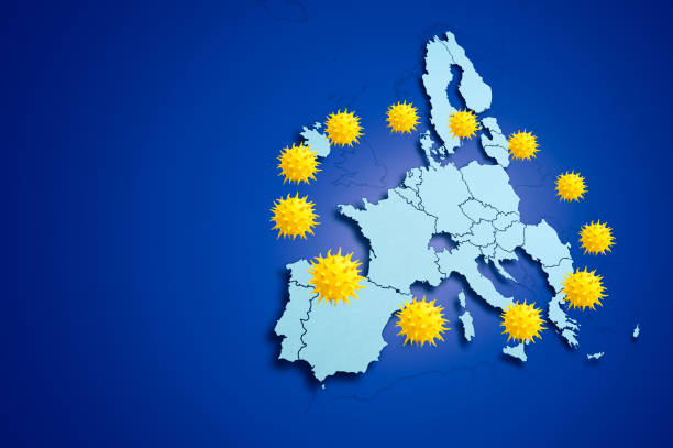 Coronavirus in Europe Coronavirus pandemic spreading in the European Union countries european commission stock pictures, royalty-free photos & images