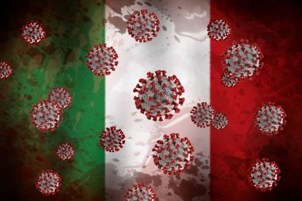 Coronavirus in Italy. Italy imposes curfew to fight coronavirus - covid19 stock photo