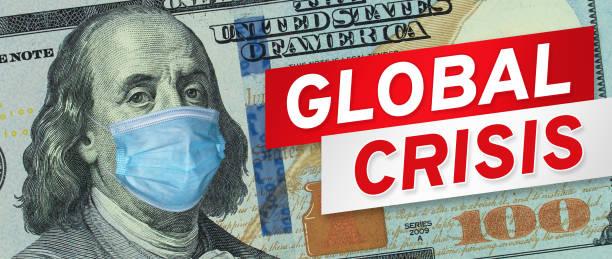 COVID-19 coronavirus in USA. Amerikanische Banknote – Foto