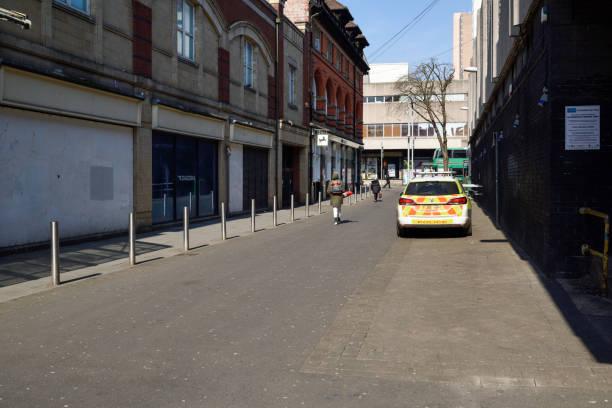 Coronavirus Lockdown Empty Streets Nottingham,UK. – Foto