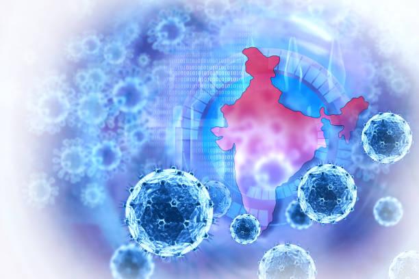 coronavirus on scientific background - prevenzione delle malattie foto e immagini stock