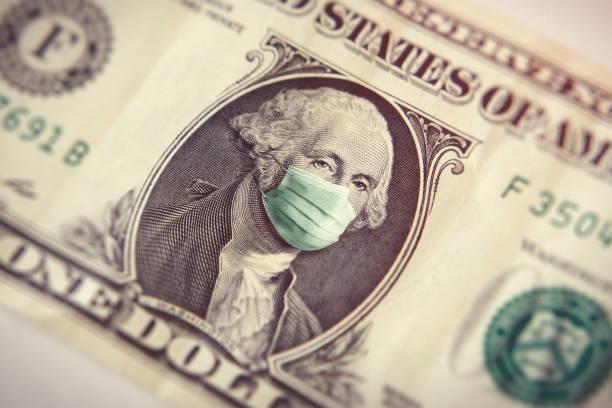 Coronavirus ein Dollar-Schein – Foto