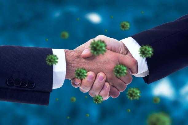 Coronavirus oder Bakterien verbreiten sich per Handschlag – Foto