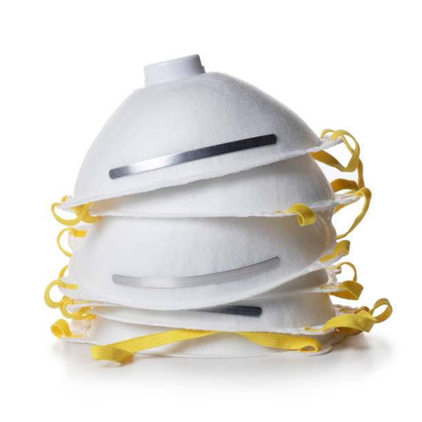 Coronavirus outbreak N95 facemask protection stock photo
