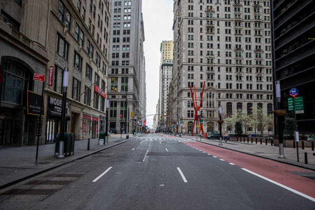 コロナウイルスアウトブレイクニューヨーク - corona newyork ストックフォトと画像