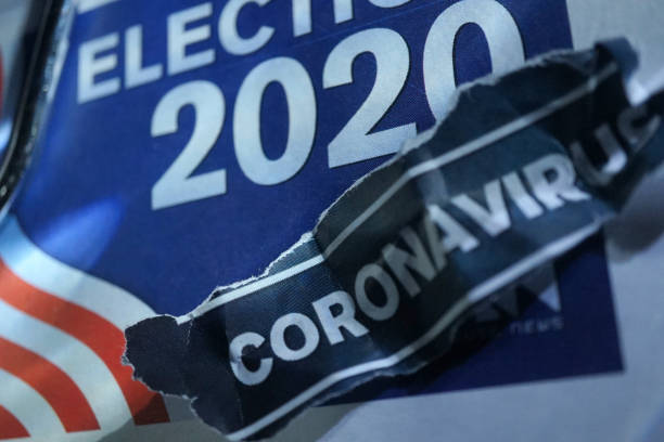coronavirus - presidential debate стоковые фото и изображения