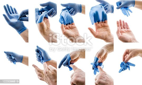 How to remove surgical gloves without contamination. Useful instructions for the general population during the Coronavirus pandemic.