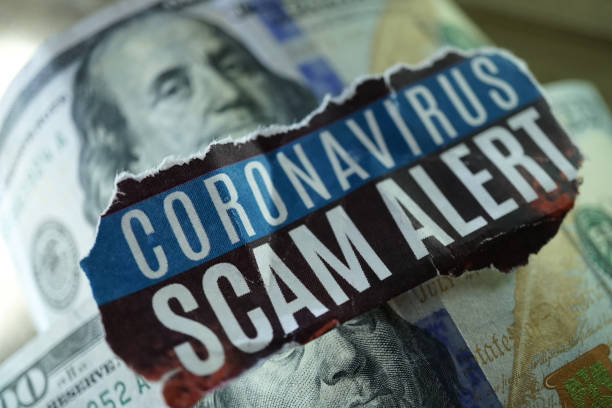 coronavirus scam - scams stock pictures, royalty-free photos & images