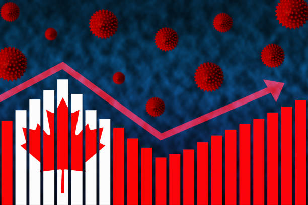 COVID-19 Coronavirus Second Wave of Infection in Canada stock photo