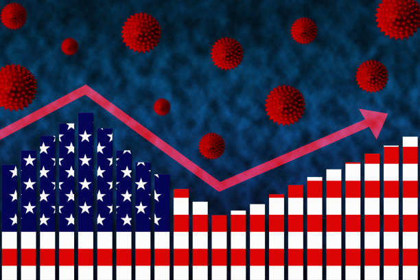 COVID-19 Coronavirus Second Wave of Infection in USA stock photo