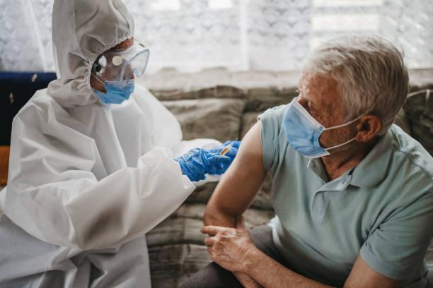 Coronavirus vaccine stock photo