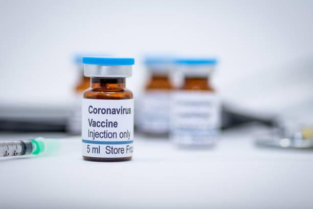 醫院內冠狀病毒疫苗小瓶 - vaccine 個照片及圖片檔