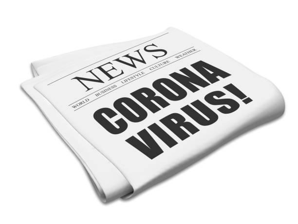 Coronavirus virus crisis newspaper title Coronavirus virus crisis newspaper title newspaper cutouts of bad news headlines stock pictures, royalty-free photos & images