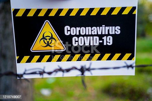 91708255 istock photo Coronavirus warning sign 1215749007