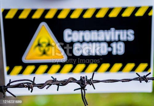 91708255 istock photo Coronavirus warning sign 1216231689