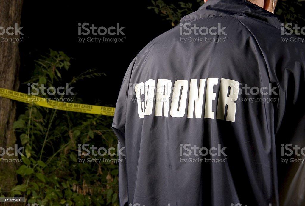 CSI: Coroner royalty-free stock photo