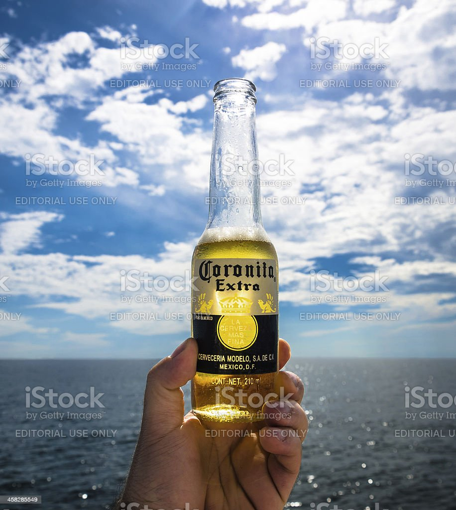 Coronita beer in a sunny day. royalty-free stock photo