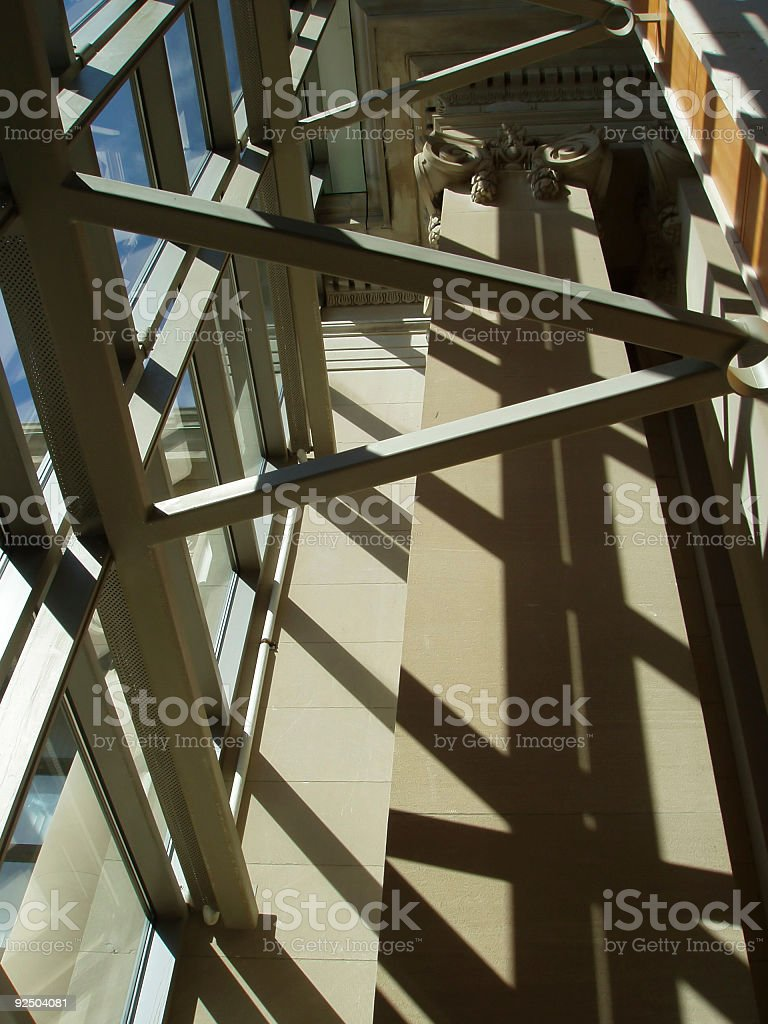 Corporate Architecture  -  Office Building Interior royalty-free stock photo