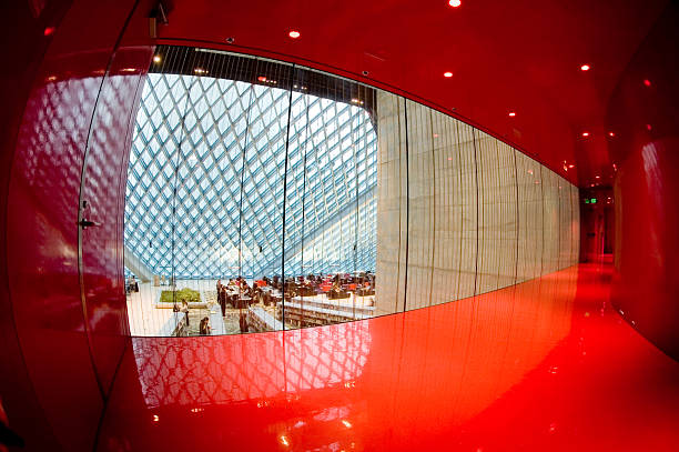 Corporate Architecture - Red Room 3 stock photo