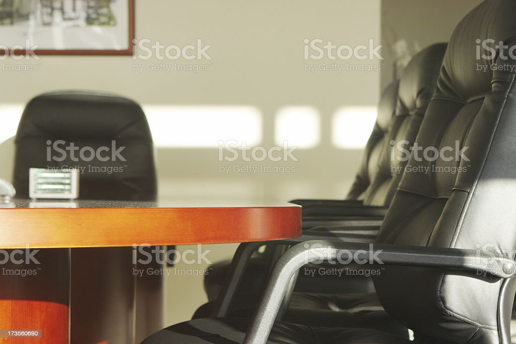 Corporate Board Room Business Meeting Table Chairs royalty-free stock photo
