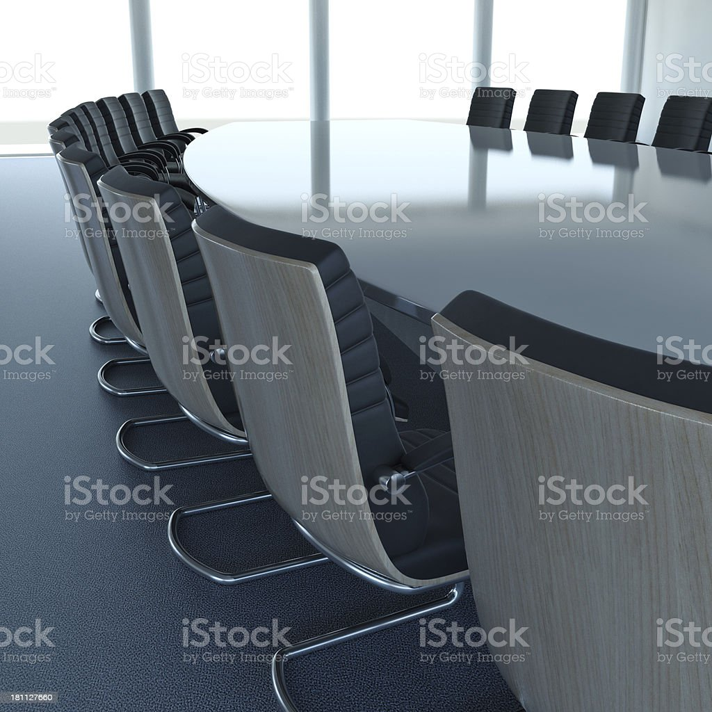 Corporate Boardroom royalty-free stock photo