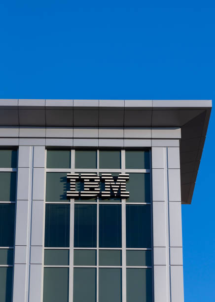 IBM Corporate Building and Logo stock photo